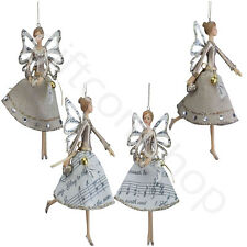 Gisela Graham Music Hessian Fairy Angel Christmas Tree Decoration Ornament Gift