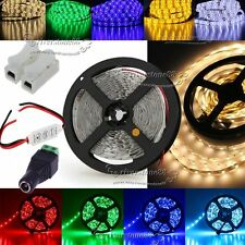 5M 3528 RGB/White SMD Flexible LED Strip Tape Light +Dimmer+Free Connector AU