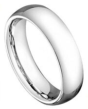 Cobalt Ring Men Women Wedding Band High Polish Classic Domed Comfort Fit 5mm