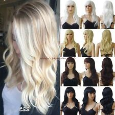 Long Curly Straight Full Hair Wigs Cosplay Party Fancy Dress Glueless Styel Wig