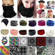 New Womens Men Winter Warm Scarf Cowl Snood Wrap Ski Bandana Headwear Beanie Hat