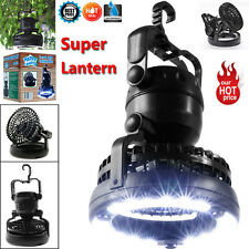 2 in 1 Camping Light 18 LED and Ceiling Fan Outdoor Hiking Flashlight Lantern UK