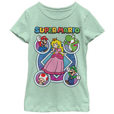 Nintendo Super Mario Princess Peach Friends Girls Graphic T Shirt