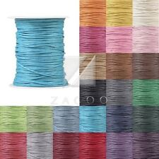 80M Waxed Cotton Cord 0.8/1/1.5/2mm Jewelry Making Thread Thong Beading Supply