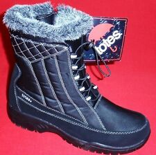 DEFECT TOTES EVE Women's Black/Gray Fur Winter/Rain Insulated Waterproof Boots