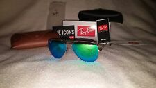 NEW Ray Ban Aviator Sunglasses Silver Frame Green Mirror Lens 58-62mm 003/19