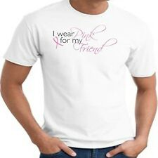 Breast Cancer Awareness T Shirt I Wear Pink For My Friend Ribbon Fight Support