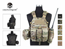 EMERSON LBT6094A Style Plate Carrier Vest with 3 Pouch Tactical CORDURA Vest