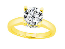 0.55Ct Round Cut Diamond Solitaire with Accents Engagement Ring 10k Gold
