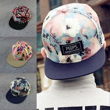 Cool Hip Hop Hat Floral Print  Unisex Cotton Snapback Adjustable Baseball Cap