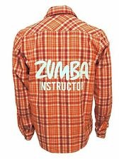 Zumba Instructor Flannel Shirt Convention Exclusive ZIN Sunkissed Unisex  M L