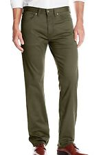 Dockers NEW Green Olive Mens US Size 38x34 Straight Fit Flat Front Pants $64 143