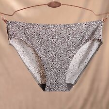 Womens Seamless One-piece Low-rise Solid/Floral Briefs Panties XXS XS S M L XL