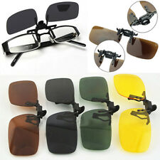 HOT Day Night Vision Polarized Driving  Clip-on Flip-up Lens Sunglasses Glasses
