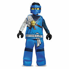 Child's Boys Prestige Lego Blue Ninjago Jay Fancy Dress Party Costume