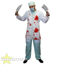 MENS KILLER SURGEON HALLOWEEN FANCY DRESS COSTUME CRAZY SCIENTIST WITH KNIVES