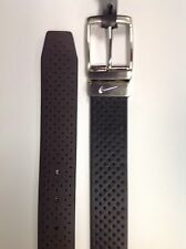 Nike Golf Perforated Reversible Belt Black/Brown NWT FREE SHIP Size 32 34 36
