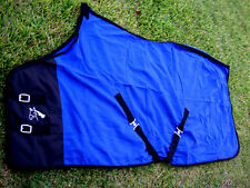 "60"" Horse Sheet Polar FLEECE COOLER Blanket Blue 4323"