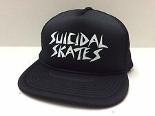 "NEW DOGTOWN X SUICIDAL TENDENCIES ""SKATES FLIP"" MESH CAP BLACK ONE SIZE FITS ALL"