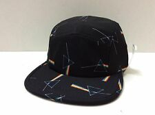 "NEW HABITAT ""DARKSIDE OF THE MOON"" 5-PANEL CAP BLACK ONE SIZE FITS ALL"