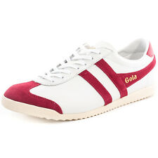 Gola Bullet Mens Trainers White Red New Shoes