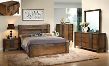 OWEN QUEEN SIZE BEDROOM SUITE / SET WITH LOW FOOT BED AND TIMBER SLATS SYSTEM