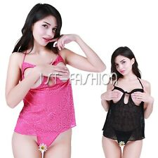 Sexy Womens Lingerie Lace Babydoll Nightwear Underwear Sleepwear Dress G-string