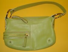 Green Kenneth Cole Leather Handbag Hobo Bag Purse NWOT 10.5 x 7 x 3 in.