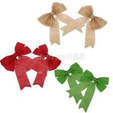 Christmas Tree Bow Decoration Baubles Merry XMAS Party Garden Bows Ornament Gift