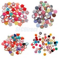 50 Pcs Multi-Purpose Fashion Scrapbooking Flatback Appliques Buttons DIY Crafts
