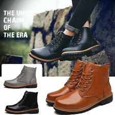 2017 Fashion Men'S Short Shoes Retro Combat Boots Winter England-Style Boots