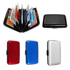 RFID Waterproof Men's Aluminum Wallet Credit Card ID Holder Slim Money Clip Case