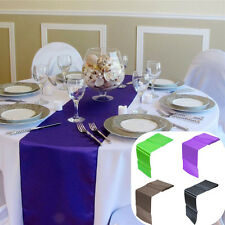 30x275cm Satin Table Runner Wedding Party Reception Banquet Decoration 12x108""
