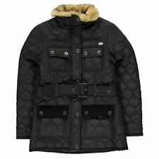 Firetrap Childrens Kingdom Jacket Girls High Neck Warm Overcoat Clothing