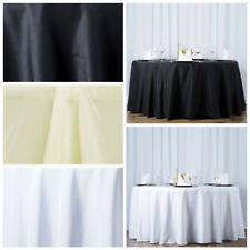 "10 108"" Round Premium Polyester Tablecloths Wedding Party Table Linens Wholesale"