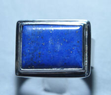 Lapis Lazuli 9.75ct Cabochon Handcrafted Sterling Silver Gemstone Ring