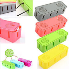Power Safety Outlet Board Cables Strip Wire Case Storage Box Organizer