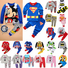 Kids Pajamas Boy Girls Cute Cartoon Charater Homewear Sleepwear Nightwear PJ Set