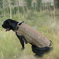 Army Tactical Dog Vests Outdoor Military Dog Clothes Load Bearing Harness GA