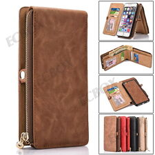 Retro Magnetic Multifunction Cash Card Slot Leather Wallet Case Cover For iPhone