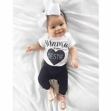 NEWBORN BABY BOY GIRL COTTON CLOTHES BODYSUIT ROMPER JUMPSUIT BODYSUIT OUTFITS