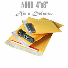 #000 4x8 KRAFT BUBBLE MAILERS PADDED ENVELOPES  BAGS  SELF SEAL 4 x8 AirnDefense