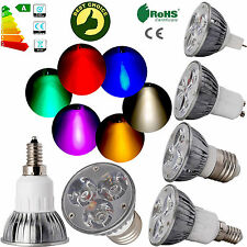 6W Dimmable CREE/Epistar LED Spotlights Bulb GU10 GU5.3 MR16 E12 E27 White Lamps