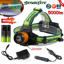 Zoomable 5000LM Headlamp CREE XM-L T6 LED Headlight Tactical Light Torches Lot