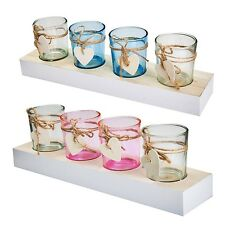 Tea Light Glass Set Candles Tray Deco Candle Holder Candle Holder Lantern Glass