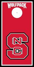 NC State Wolfpack letter Cornhole Board Printed 3M Vinyl Wrap Single or Set