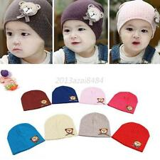 Toddlers Infant Boys Girl Baby Cute Hat Bear Dots Cotton Kid Headdress Caps Hats