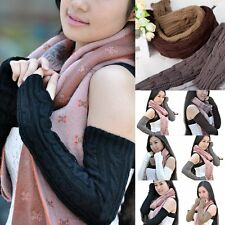 Winter Fashion Long Knit Crochet Arm Leg Warmer Fingerless Gloves Sleeve Mittens