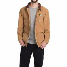 New Carhartt Weathered Cotton Duck Chore Coat Jacket Brown Missouri M/L