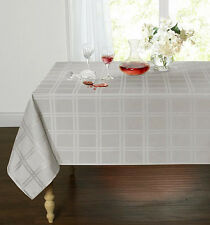 Plaid & Tartan Stain Resistant & Spill-Proof Fabric Tablecloth - Assorted Colors